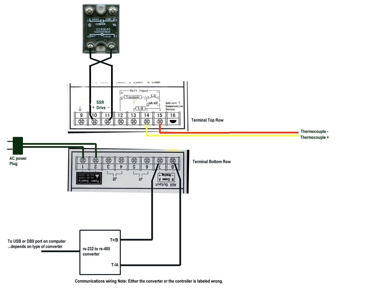 temperature controller solid state relay wiring diagram