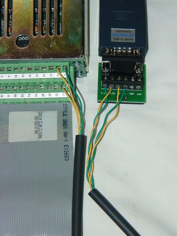 Anafaze Pin 23 to USB to 422 T B Anafaze Pin 25 to USB
