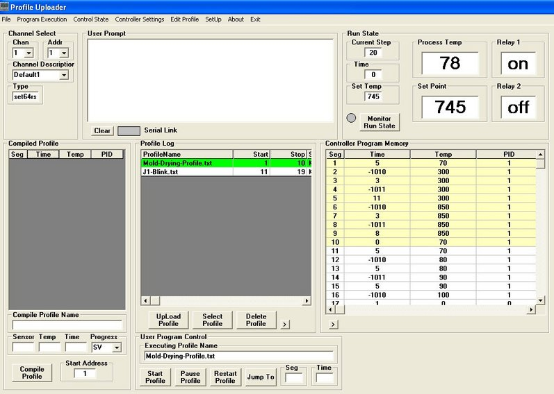 JLD634 Set64rs XMT63 Temperature Controller Software Create UpLoad Profiles Arizona Phoenix