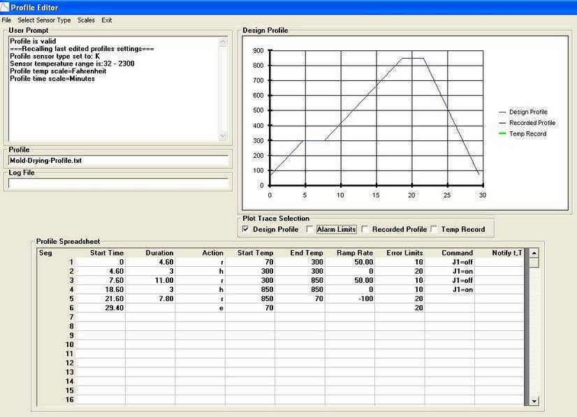JLD634 Set64rs XMT63 Temperature Controller Software Create UpLoad Profiles Arizona Phoenix