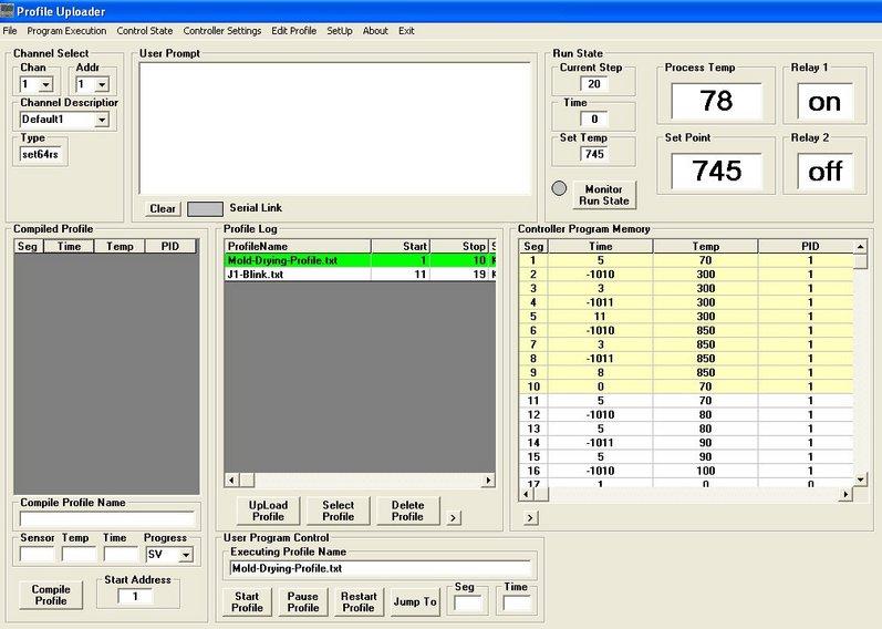 Set64rs XMT63 Temperature Profile UpLoader