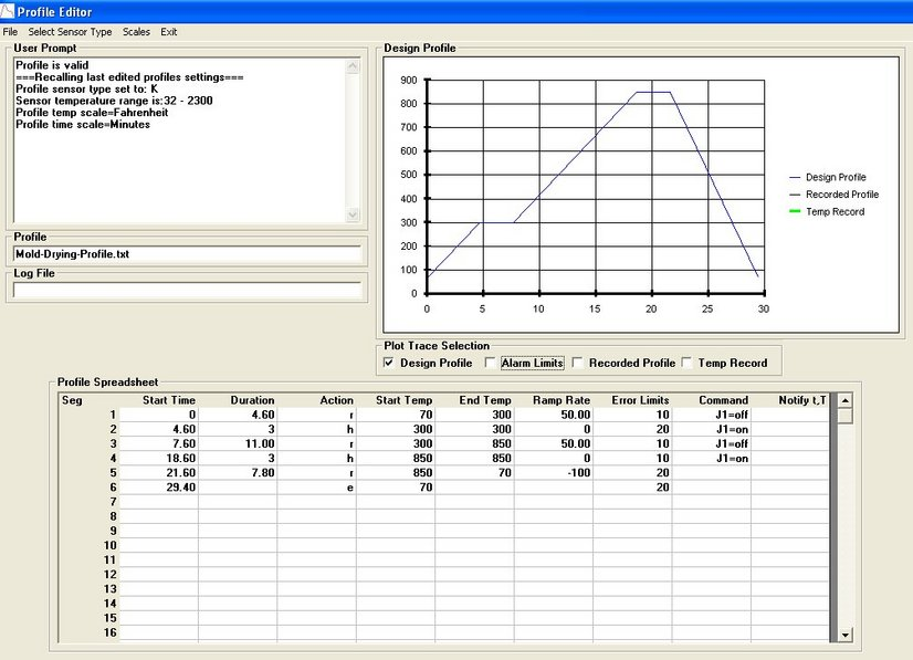 Set64rs XMT63 Temperature controller software edit profile